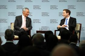 PM Lee Hsien Loong and Evan Osnos (staff writer at The New Yorker)
