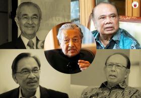 Mahathir and Ghafar Baba
