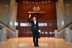 heng swee keat before delivering budget speech